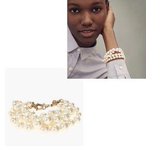 NWT J. Crew Pearl Twisted Bracelet